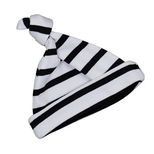 White and Black Striped Hat