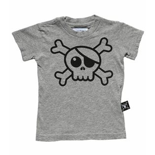 Nununu Big Skull T-Shirt - Heather Grey