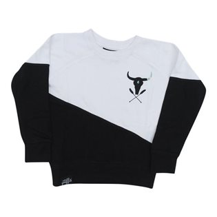 Two Tone Sweatshirt - Black & White