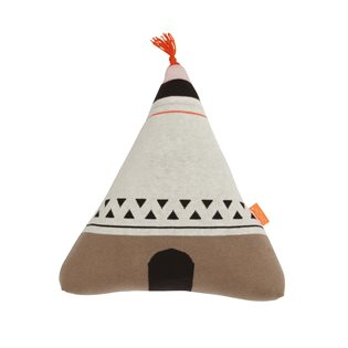 Wigwam Cushion - Neon Orange