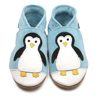 Penguin Baby Shoes - Marine Suede