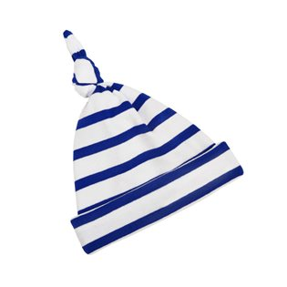 French Blue & White Breton Stripe Pixie Hat