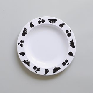 Fruit Friends Plate - Black