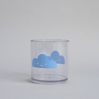 Happy Clouds Tumbler - Blue