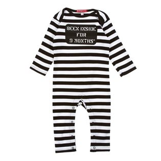 Been Inside 9 Months Playsuit - Black