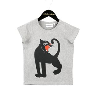 Panther Print T-Shirt - Grey Melange