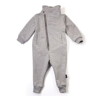 Nununu French Terry Bikers Overall - Heather Grey