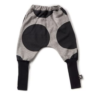 Nununu Circle Donkey Pants - Heather Grey