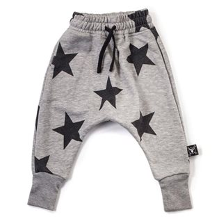 Nununu Star Baggy Pants - Heather Grey