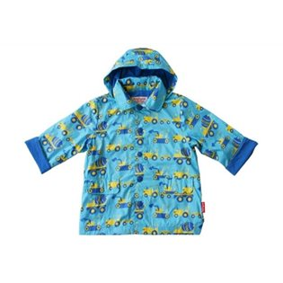 Boys Raincoat Turquoise Diggers