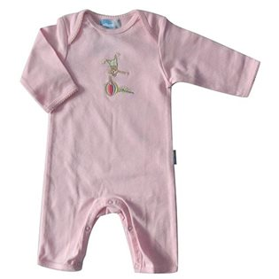 Monkey Applique Babygrow - Pink