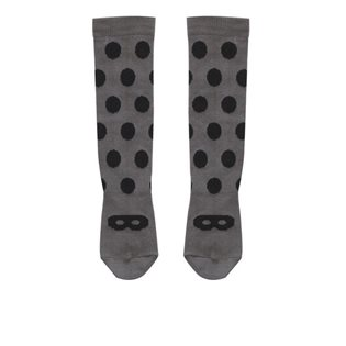 Beau Loves Grey Knee High Socks - Black Dot/Mask