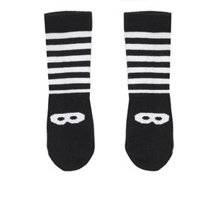 Beau Loves Stripe Ankle Socks - White Mask