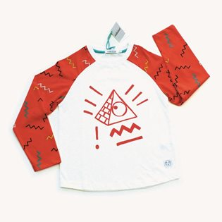 Sol - Red Pyramid Raglan Top
