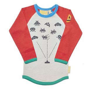 Space Invader Raglan Tee