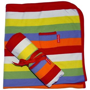 Organic Baby Blanket- Multi Stripes