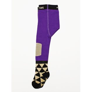 Little Triangle Toes Tights - Purple