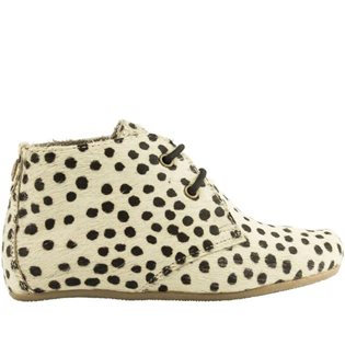 Gimlet Girl Hair on Leather Shoe - Small Dots