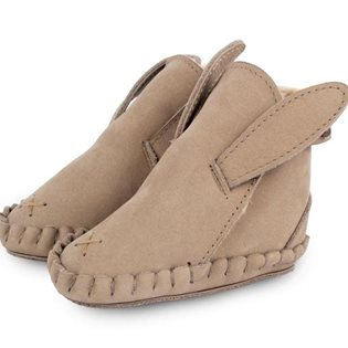 Animal Booties Rabbit Lining - Nubuk Taupe