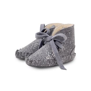 Pina Lining Booties - Suede Grey Metallic