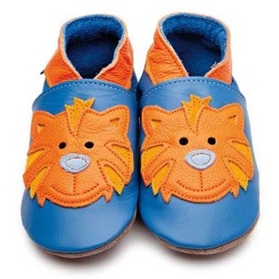Tommy Tiger Baby Shoes - Blue & Orange