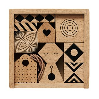 Puzzle Me - Wooden Bricks/ Mobile