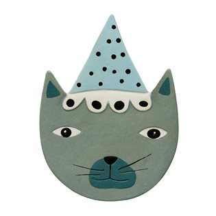 Buster Cat - Ceramic Wall Hanging