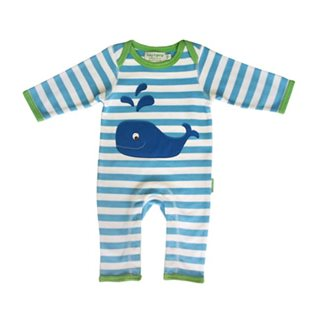 Organic Sleepsuit with Whale Applique
