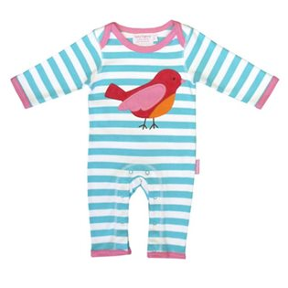 Organic Sleepsuit with Bird Applique