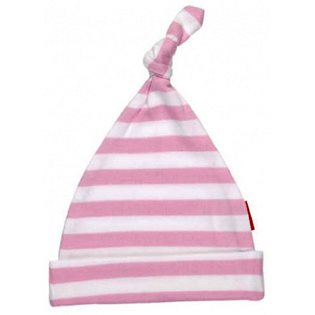 Pink & White Striped Baby Hat