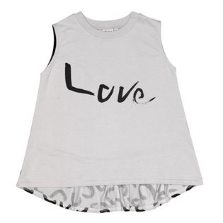 Beau Loves Sleeveless Frill Back Top - Love