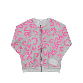 Beau Loves Zip Jacket - Neon Pink Modern Leopard