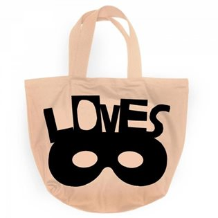 Beau Loves Canvas Tote Bag - Voyage Travel Mask Black