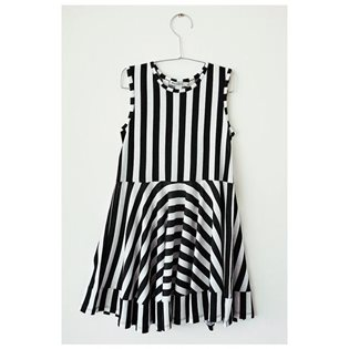 Marta Dress - Black Stripes