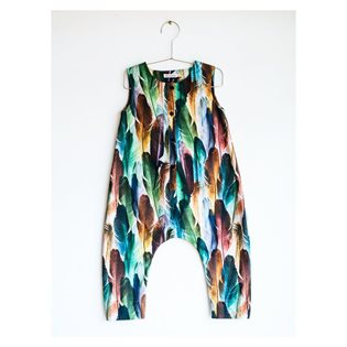 Monica Playsuit - Feather Print