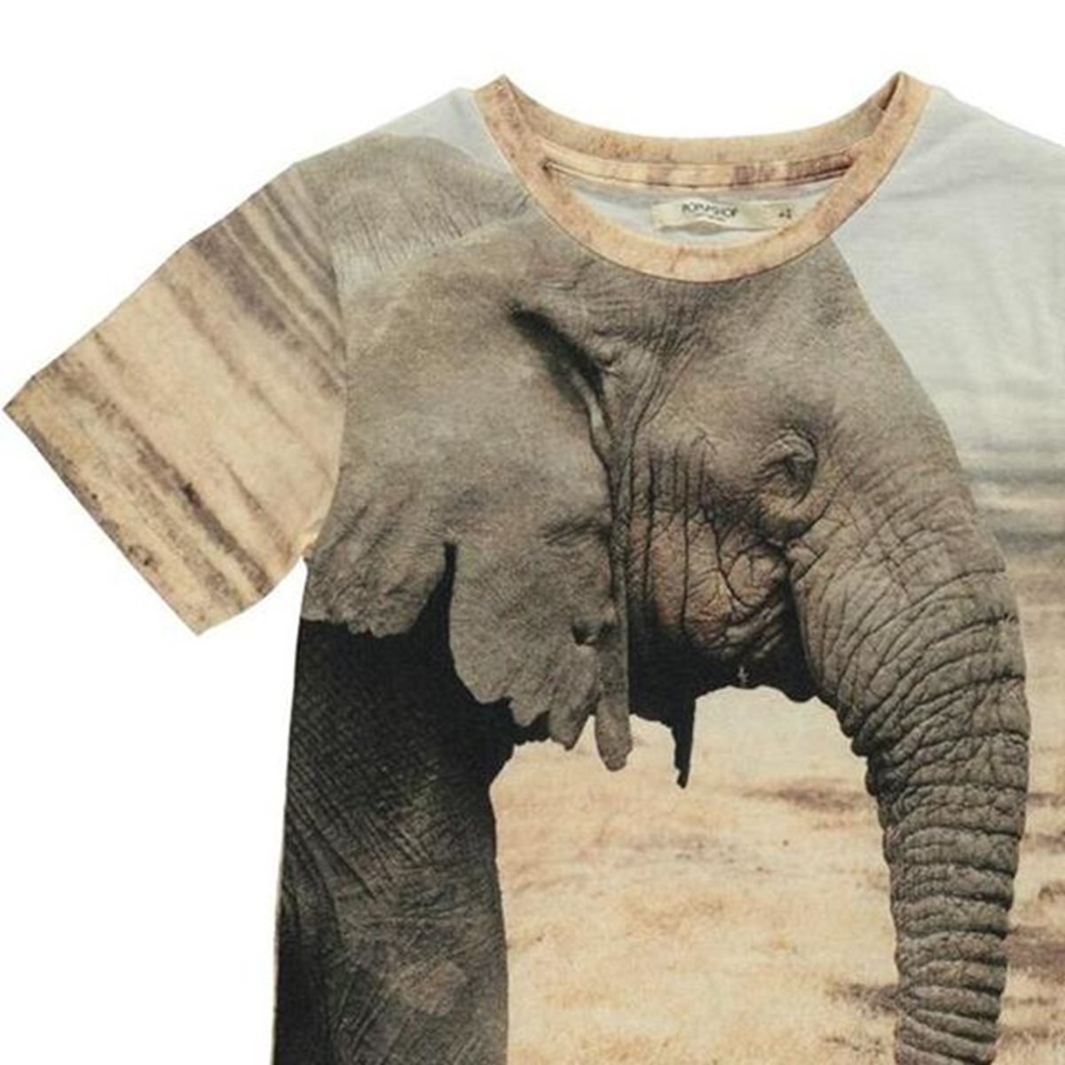 2b0a54de191d MonkeyMcCoy | Basic Short Sleeve T-Shirt - Elephant Print - Monkey McCoy