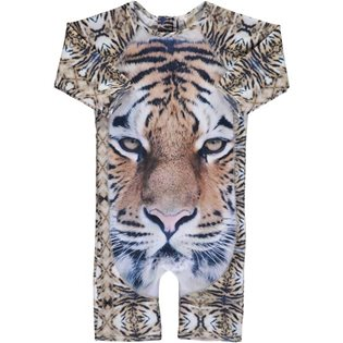 Swimsuit UV One-piece - Tiger Print