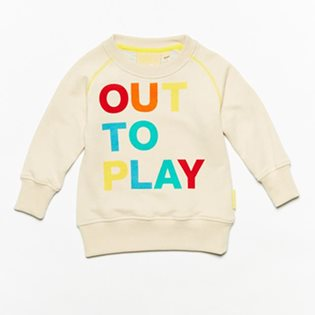Out To Play Crew Top - Vanilla