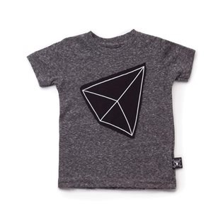 Nununu Geometric Patch T-Shirt - Charcoal