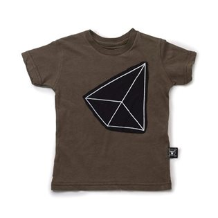 Nununu Geometric Patch T-Shirt - Olive