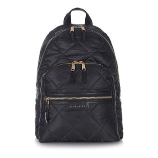 Elwood Backpack - Black Quilt