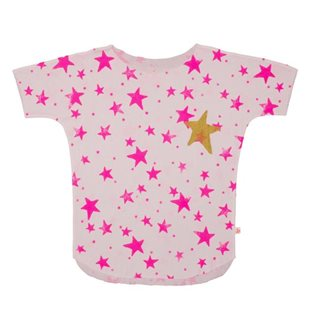 Noe & Zoe Tee - Pink Stars With Gold Star