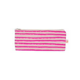 Noe & Zoe Pencil Case - Neon Pink Stripes
