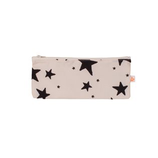 Noe & Zoe Pencil Case - Black Stars