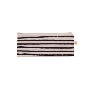 Noe & Zoe Pencil Case - Black Stripes
