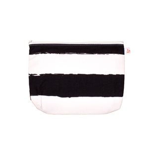 Noe & Zoe Pencil Case M - Black Stripes XL