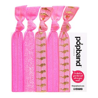 Popband Hair Ties - Flamingo