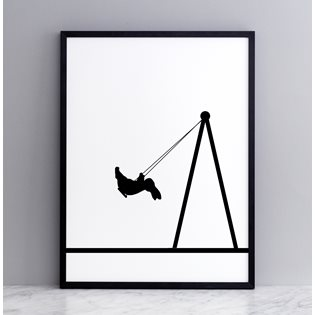 Swing Rabbit Screen Print