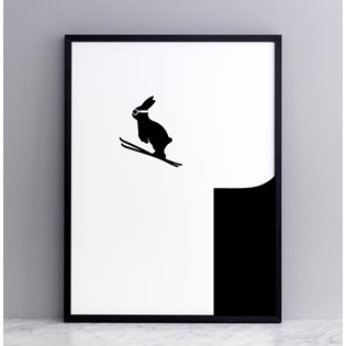 Ski Jumping Rabbit Screen Print