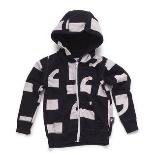 Nununu Punctuation Zip Hoodie - Black